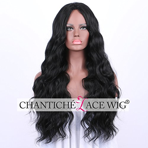 Chantiche Cheap Black Long Wavy Synthetic Wigs for - Black Realistic Wigs