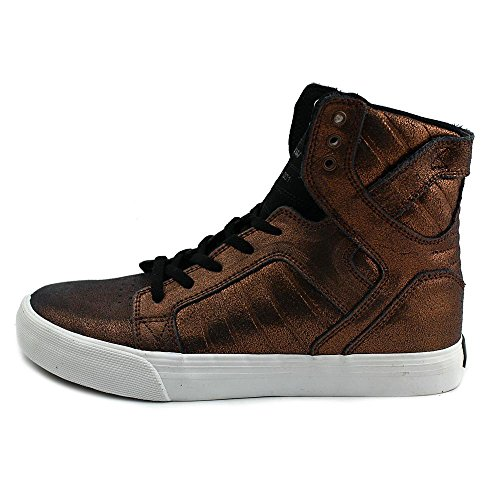 Uomo Alto Da Sneakers Metallic Leather Chocolate Collo A Supra PqwgtXS