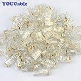 YOUCable(TM) 100pcs RJ45 Plug Cat5E Cat5 Rj-45 Lan Connector Crystal Head Network-White