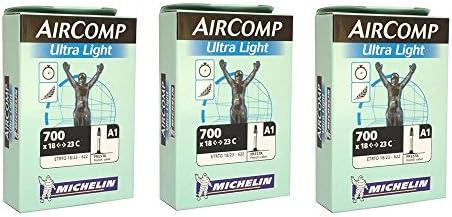 Michelin AirComp Ultra Light Tube 700x18-23mm 52mm Presta Valve