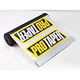 Short White Pro Taper Soft Impact Absorbing Dense Foam Protector Accessories for Various Wheeled Vehicles w/ Crossbars (7.87in Length)