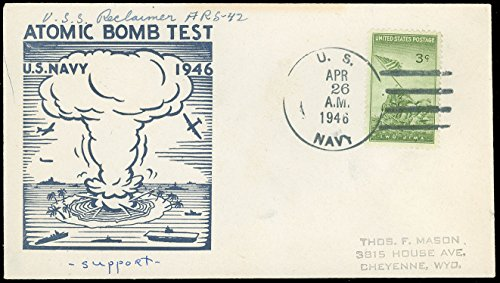 USS Reclaimer Atomic Bomb Test Cachet, Support Ship Operation Crossroads ()