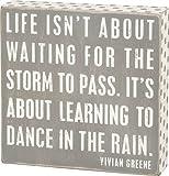 Gray Box Sign - ''Dance In Rain''