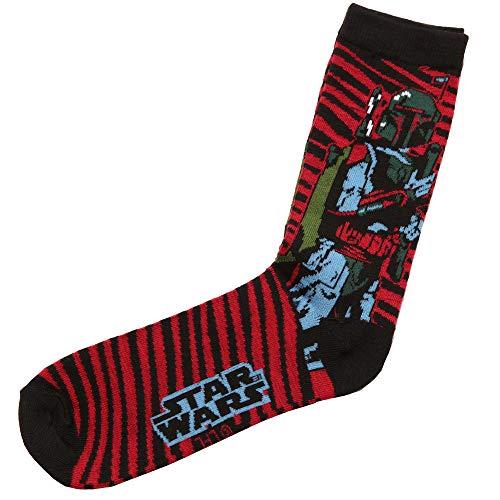 Star Wars Boba Fett Striped Adult Crew Socks ()