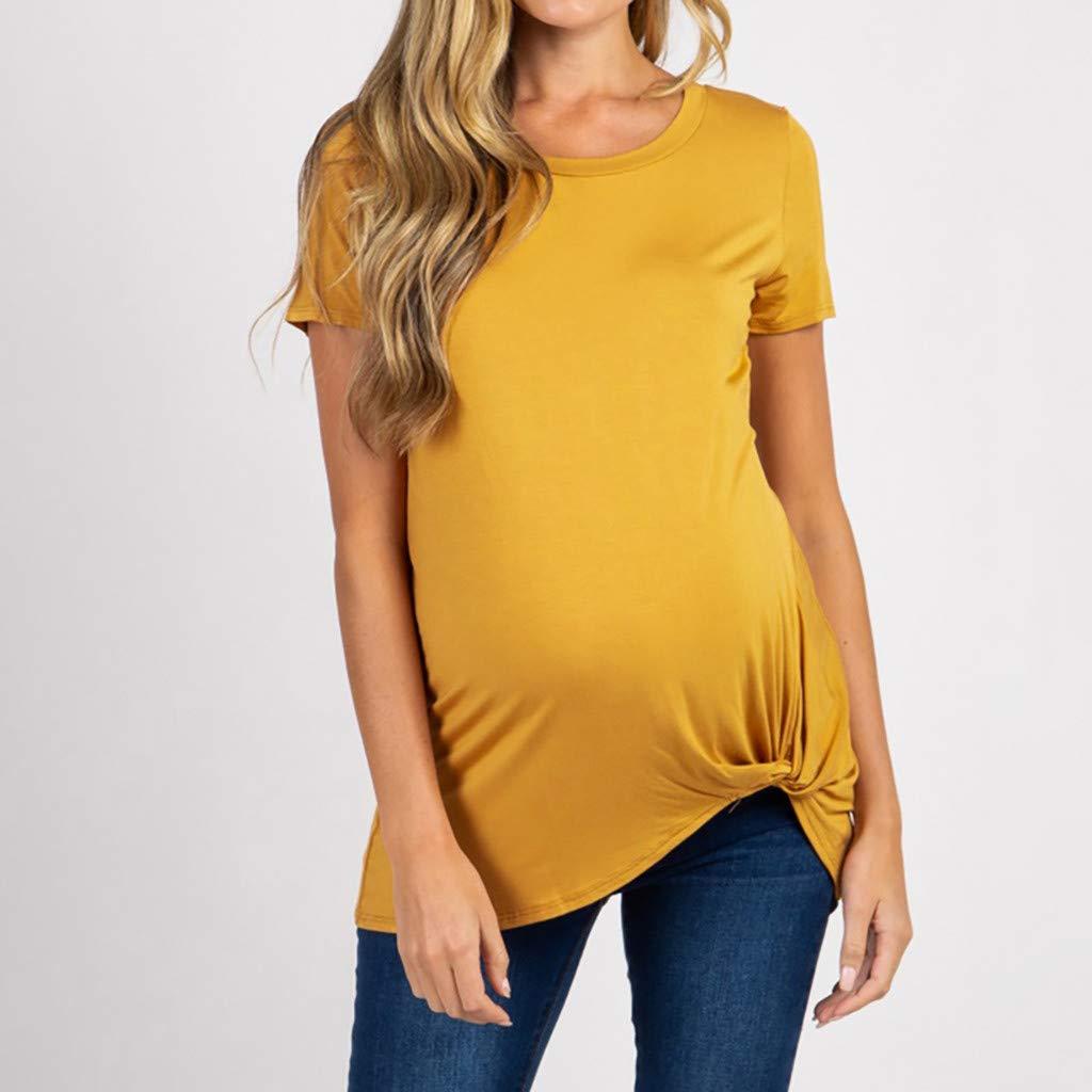Yesmile - Altavoz para ropa de maternidad de manga corta a ras del ...