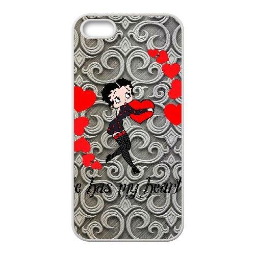 Betty Boop 2 iPhone 5 5s Handy Fall hülle weiß O2F6UYPDUV