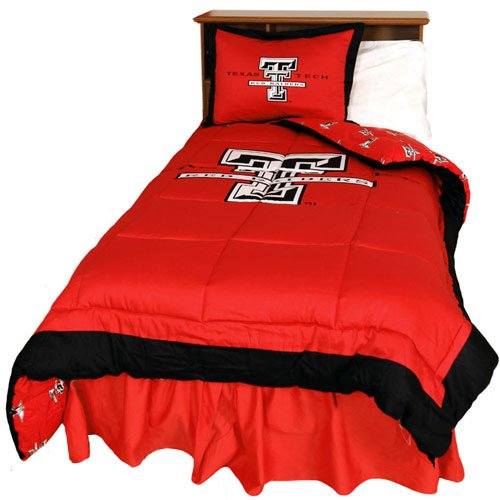 Texas Tech Pillowcase (College Covers Texas Tech Red Raiders Reversible Comforter Set - Queen)