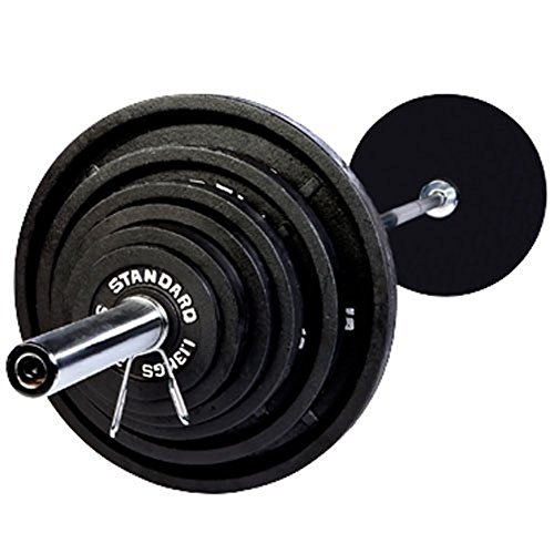 Harvil Olympic Black Weight Set with Chrome Bar - 300 Pounds by Harvil