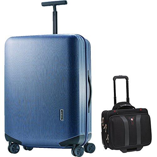 Samsonite Inova Luggage 30 Inch Hardside Spinner - Indigo Blue (48252-1439) with Wenger Swissgear Granada Rolling Laptop Boarding Bag by Samsonite