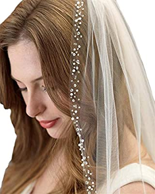 Passat Crystals Modern Wedding Veils Beads Veils For Brides 113