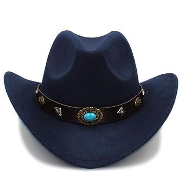 Sunhat-TX Sombrero - Nuevo Sombrero de Vaquero Occidental para Hombres y  Mujeres Gorras de ala Grande al Aire Libre Sombreros de Jazz sólido Tamaño  56-58cm ... decb0d1131f