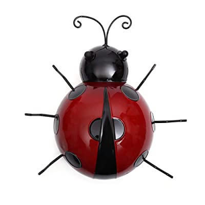 Anniston Kids Toys, Metal Simulated Ladybug Animal Hanging Wall Art Hanger Garden Fence Home Decor Outdoor Toys for Children Toddlers Boys Girls, 10cm: Toys & Games