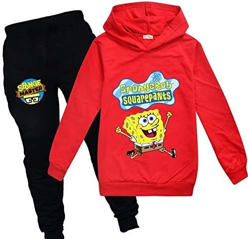 C/&NN Toddler Kids Boys Outfits Popular Cartoon Characters Hoodie Pullover Sweatshirt Tops Pants Clothes Sets,Blue,110cm