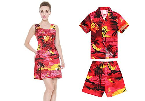 775baf7fc Hawaii Hangover Matching Mother Son Hawaiian Luau Women Dress Boy Shirt  Shorts Red Sunset - Buy Online in Oman. | Apparel Products in Oman - See  Prices, ...