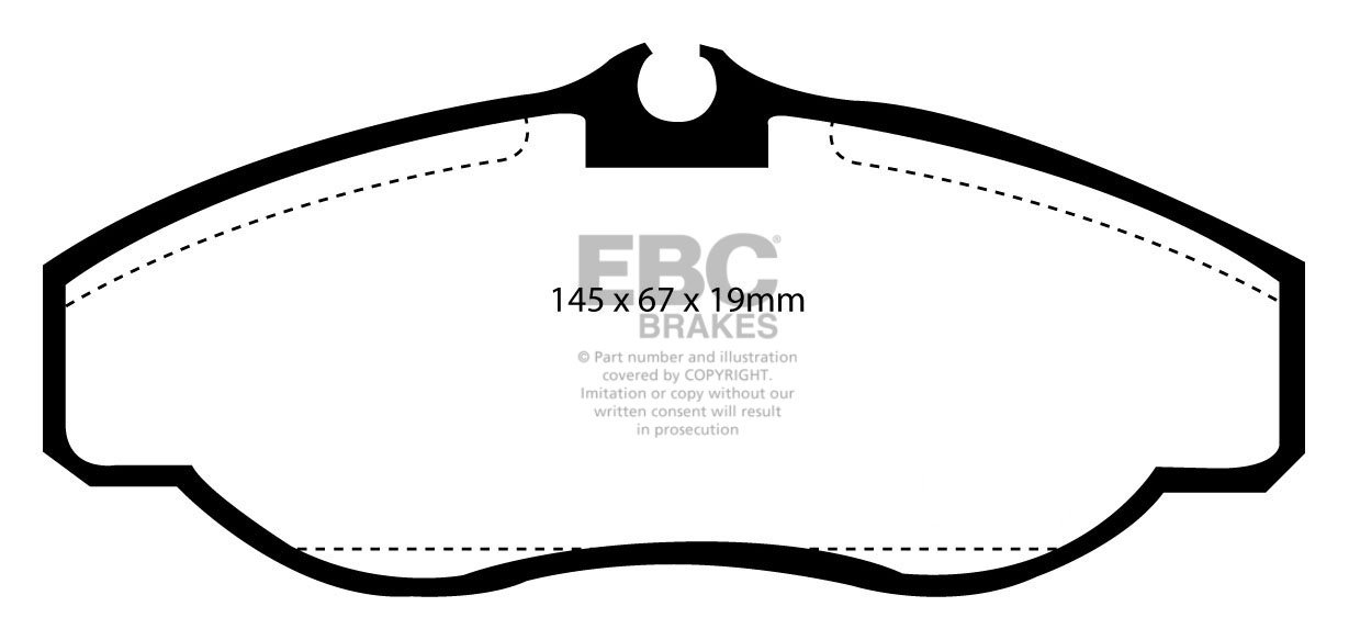 Ebc Yellowstuff Front Brake Pads Dp41037R