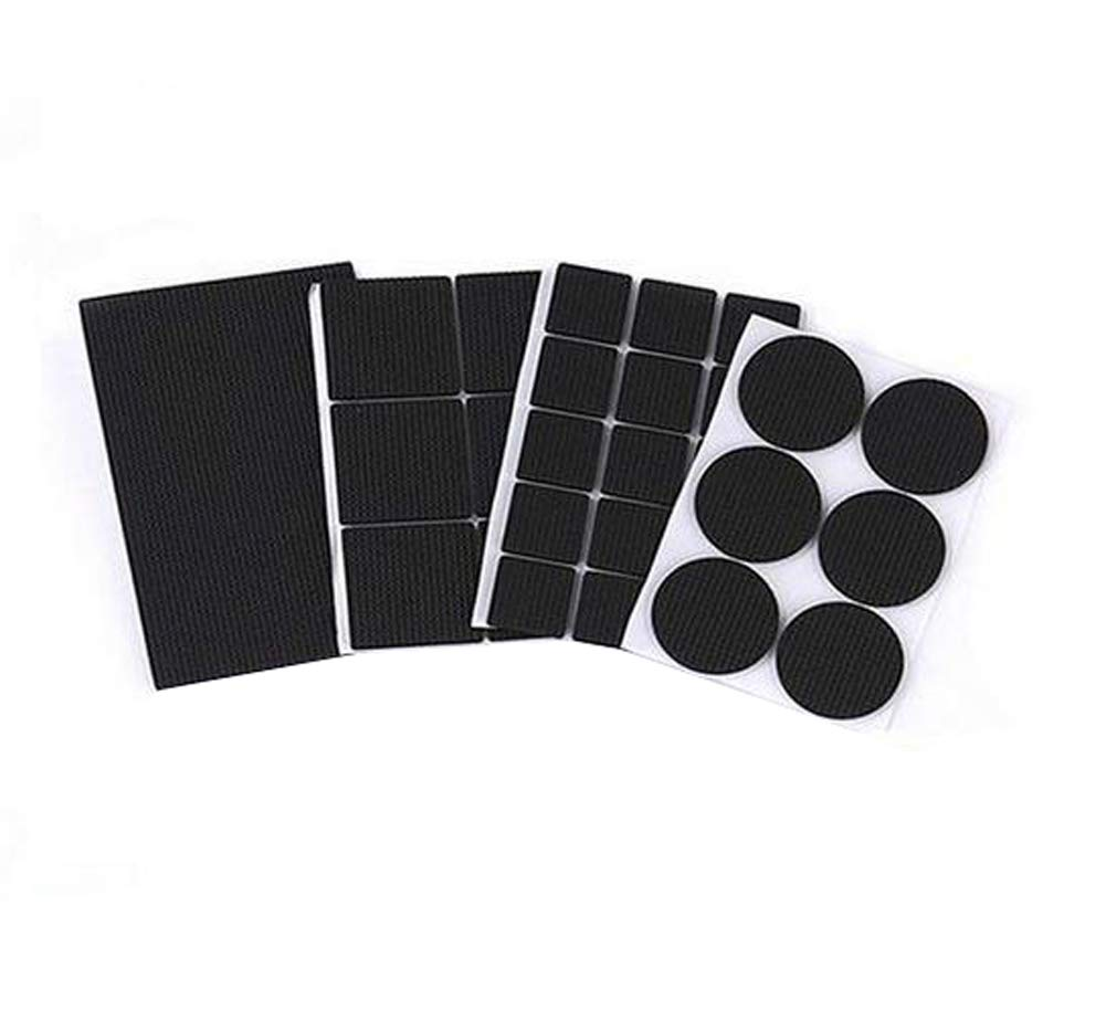 Set of 184 Black Multi-functional Thicken Non-slip Furniture Pads Self Stick Chair Glides Stool Floor Protection Mats Noise Dampening Bumper Buffer Pads Rubber erioctry