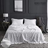 What Size Is Eastern King Simple&Opulence 100% Linen Sheet Set Embroidery(King,Embroidery White)