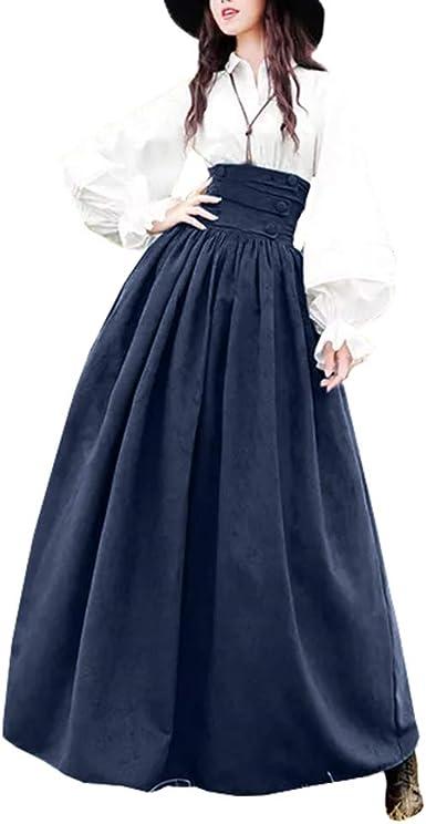 Mujer Vintage Lolita Falda Gótica Steampunk Falda Princesa ...