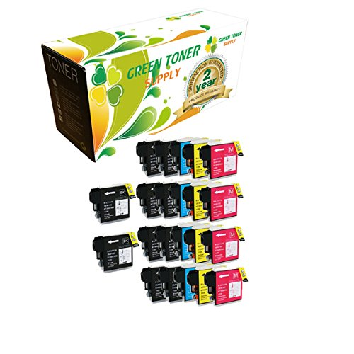 Green Toner Supply™ Compatible Ink Cartridge Replacement for Brother High Yield LC65 (10 Black, 4 Cyan, 4 Yellow, 4 Magenta, 22-Pack) supplier