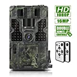 Trail Game Camera 16MP 1080P Waterproof Hunting Scouting Cam Wildlife Monitoring 130° Detection