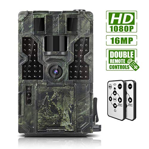 Trail Game Camera 16MP 1080P Waterproof Hunting Scouting Cam Wildlife Monitoring 130° Detection...