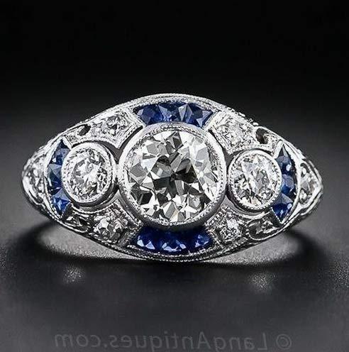 Waldenn Fashion Women Men White Topaz 925 Silver Ring Amethyst Aquamarine Gift Size 6-10 | Model RNG - 14132 | 10