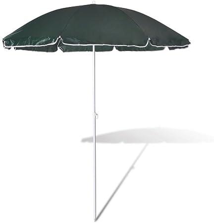 vidaXL Sombrilla para Playa Redonda de Tela Verde 180 cm Parasol Toldo Jardín: Amazon.es: Jardín