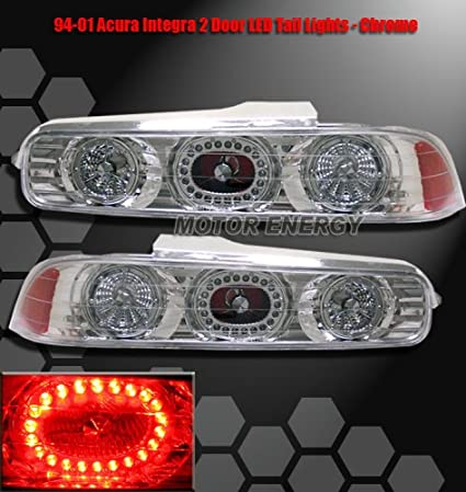 Amazoncom Acura Integra Dr Led Tail Lights Chrome LED - 1999 acura integra tail lights