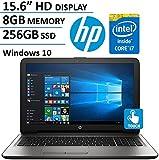 HP 15.6' HD 1366x768 Touchscreen Flagship Laptop, Intel Core i7-7500U 2.7GHz, 8GB DDR4 RAM, 256GB SSD, DVDRW, Intel HD Graphics 620, WiFi, HDMI, Windows 10