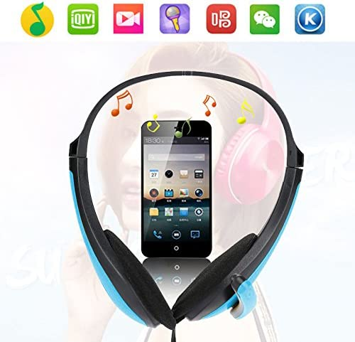 oobest Portable Foldable Headsets Gaming Stereo Headphone for Laptop/Mac/iPad/MP3/Smartphone/Computer Player Bass Wired Earphone