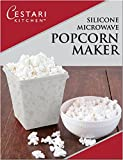 Microwave Air Popper | BPA Free Premium European Grade Clear Platinum Silicone Popcorn Maker | Replaces Microwave Popcorn Bags | Enjoy Air Popped Popcorn - No Oil Needed | by Cestari (2 Quarts)