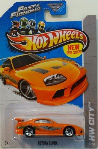 Hot Wheels 2013 HW City Fast & Furious Toyota Supra 5/250, Orange (Toyota Supra Hot Wheels Fast And Furious)