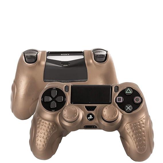 Amazon.com: CHINFAI PS4 Controller DualShock 4 Skin Grip ...