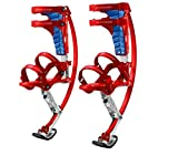 Jump-bird Jumping Stilts Pogo Stilts 66-110lbs/30-50kg RED