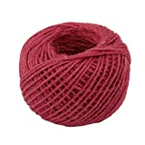 Natural Thick Rope Jute String Craft Twine for DIY & Arts Crafts, Christmas Gift Packing, Gardening and Recycling Wrap Gift 50Meters Red