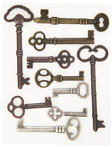 Metal Art Embellishments - K&Company Life's Journey Keys Metal Art