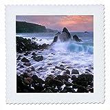 3dRose Danita Delimont - Beaches - Honomanu Bay near Keanae, Maui, Hawaii, USA - 18x18 inch quilt square (qs_259263_7)