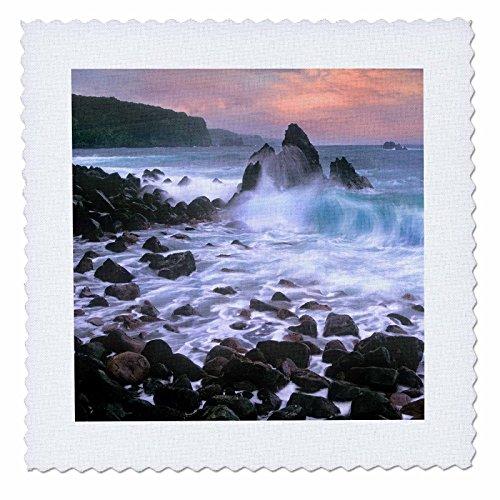 3dRose Danita Delimont - Beaches - Honomanu Bay near Keanae, Maui, Hawaii, USA - 18x18 inch quilt square (qs_259263_7) by 3dRose