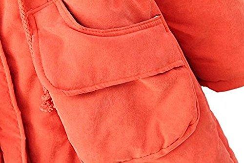 Parka Blouson Chaude Veste Hiver Epais Poche Fourrure Epais Femme avec Manteau Pour pw0UYxx8