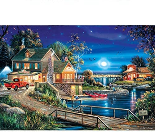 Jigsaw Puzzle, Used To Exercise Intelligence And Improve Children's Operation Ability, DIY, 500,1000,2000 Pieces (Size : 2000 tablets)