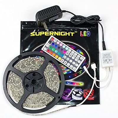 Best Cheap Deal for SUPERNIGHT RGB 5M (16.4 ft) LED strip Light 300 LEDs + 44 key Controller + Power supply from SUPERNIGHT - Free 2 Day Shipping Available