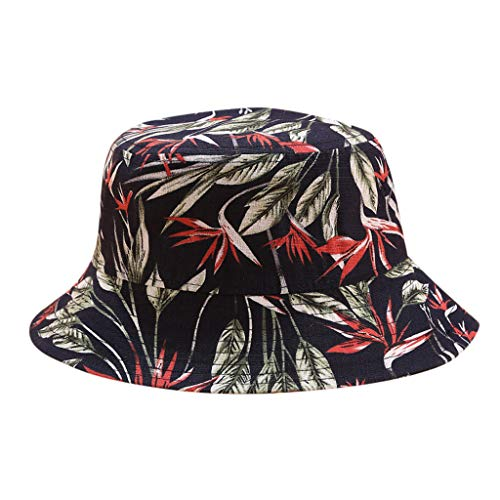Excursion Sports Short Brim Breathable Bucket Hat, Fashion Print Sun Hat with UV Protection, Summer Safari Hats, Beach Foldable Boonie Hat for Fishing Camping Traveling (Dark Blue) ()