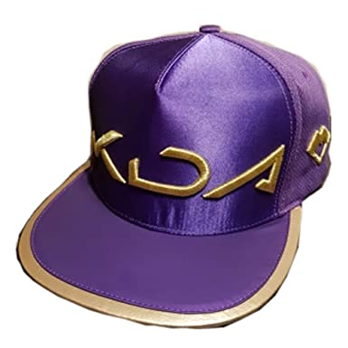 Lonme Niña Sombreros y Gorras Gorra de Sombrero KDA Cosplay Wigs Hair Women Akali Hat Cap