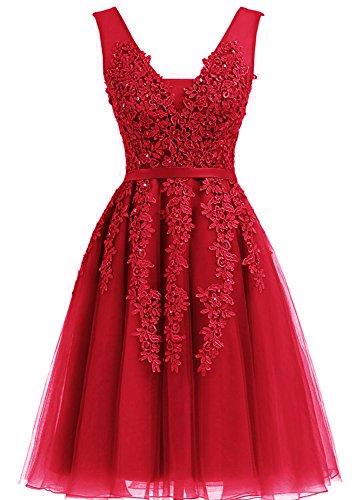 Robes De Mariée Robes De Mariée Courte De Bal Net 2017 Rouge