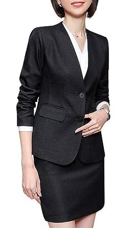 Traje de Dos Piezas para Mujer de Oficina y Negocios, Ajustado ...