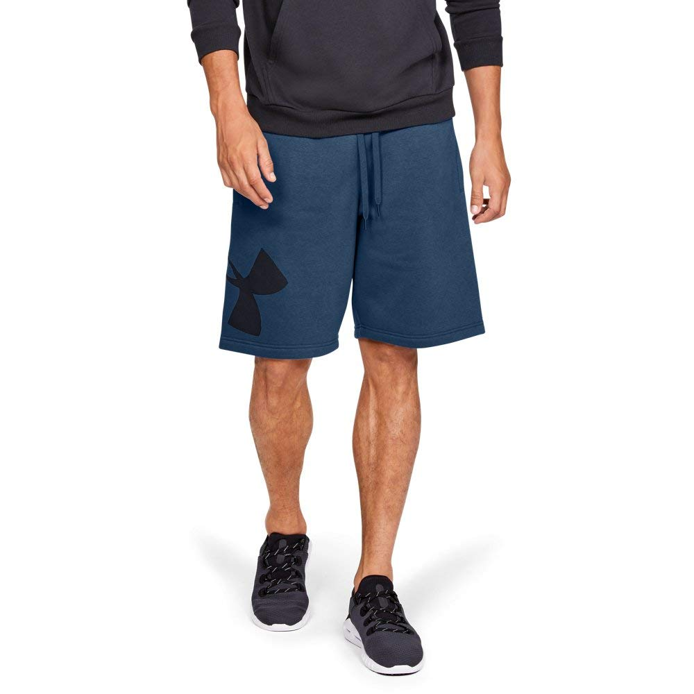 Under Armour Rival Fleece Logo Sweatshorts, Petrol Blue//Black, XX-Large by Under Armour