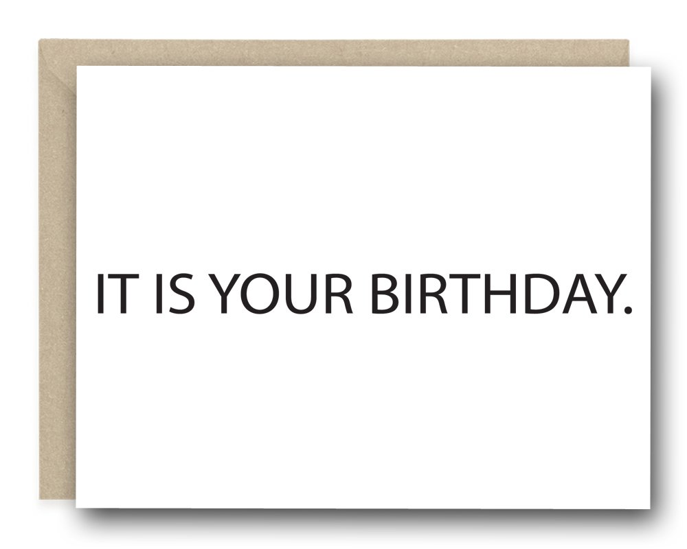 Amazon The Office Birthday Card It Is Your Birthday Funny