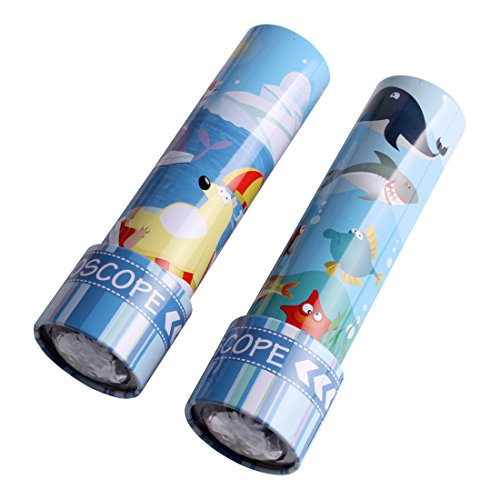 Wht Tin - Classic Colorful Retro Tin Kaleidoscopes WHT-01 2 Pieces  (Random color)
