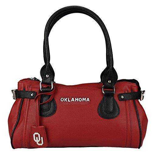 NCAA Oklahoma Sooners Baywood Academic Handbag, Small by Sandol
