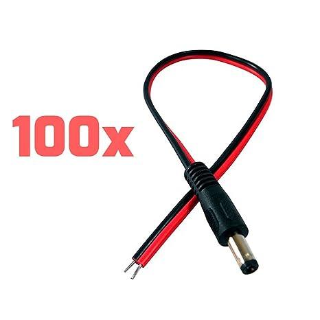 TNTe macho rojo negro DC Cable de alimentación coletas adaptador ...
